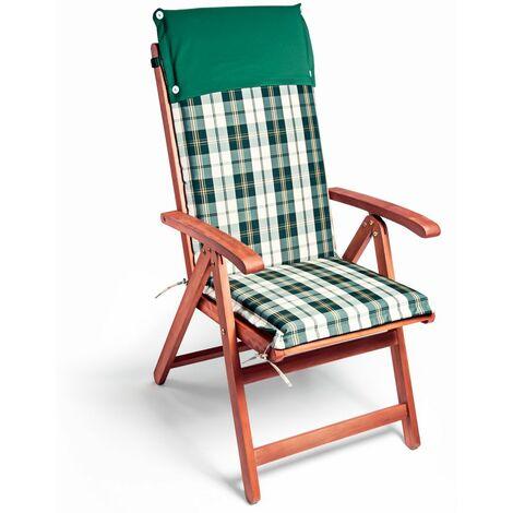 Detex 6x Cojines con repaldo para sillas de jardín almohadillas acolchadas repelente al agua - modelo a elegir