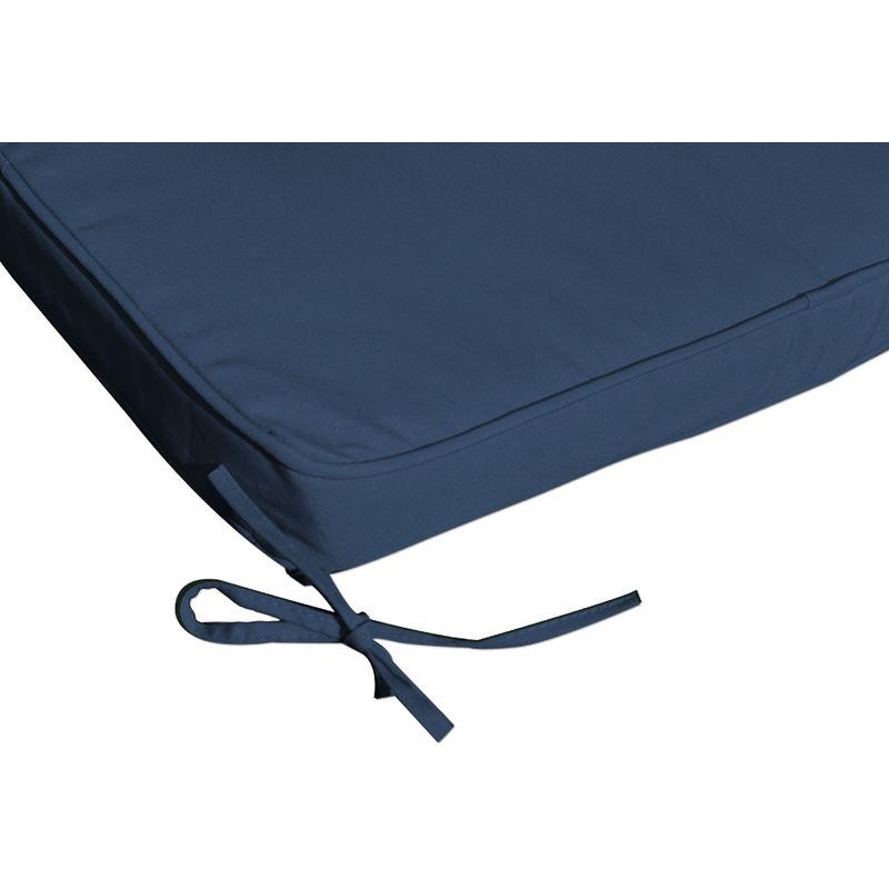 aabdc4c6abaf9 Detex Coussin pour chaise longue 173 cm - Matelas Transat Bain de soleil  Jardin BLEU