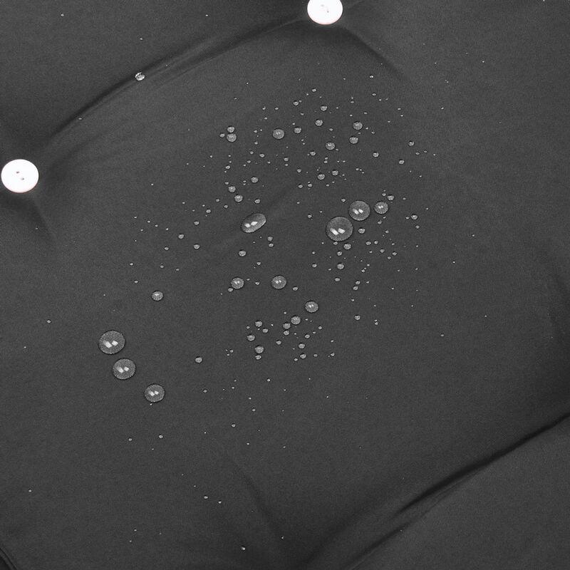 Detex® Coussin pour transat chaise longue de jardin 195cm Hydrofuge 8 boutons