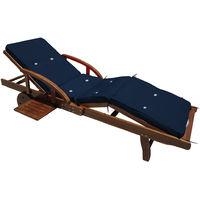 Detex® Cushion for Sun Lounger Recliner 196 x 55 x 5 cm – Cushion Only - Grey, Orange, Red, Blue, Green, Cream