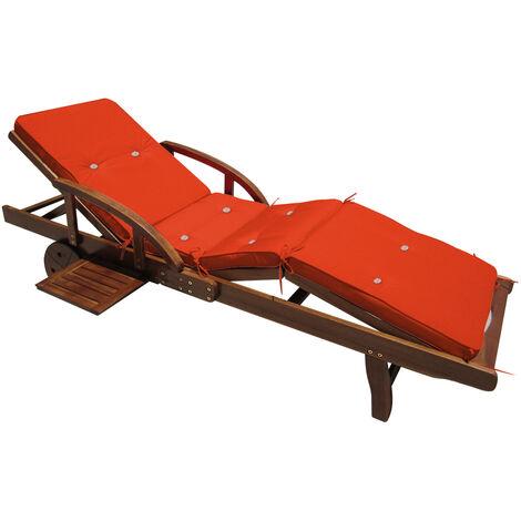 Detex Sun Lounger Cushions 195 x 55 x 5 cm Pads Waterproof Steamer Recliner Relaxer Seating Cushion Pads Orange
