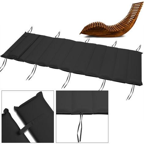 DeTeX® Sun Lounger Pad Cushion Garden Patio Reclining Deck Chair Padded Outdoor