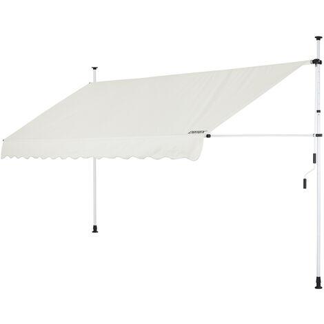 Detex Toldo retraíble lona resistente poliéster protección solar para terraza balcón altura ajustable con manivela