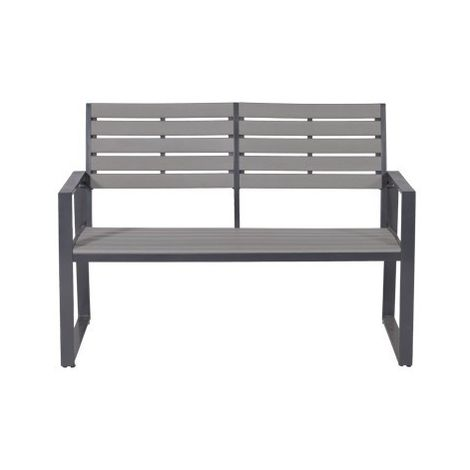 Detroit Alu parkbench L122 carbon black/ carbon grey polywd
