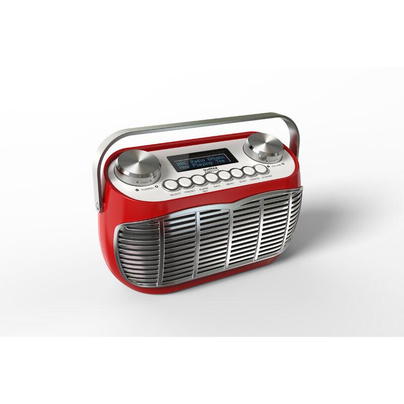 Image of Detroit DAB Radio UK RED