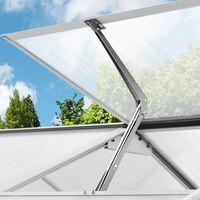 Deuba 2x abridores de ventana automáticos para cobertizos e invernaderos - capacidad de elevación 7,5 kg altura de 45cm
