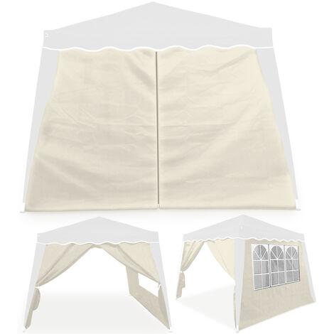 Deuba - 2x Parois latérales pour Tonnelle / Pavillon Capri - avec fenêtres - Hydrofuge - Couleur au choix