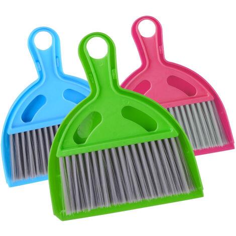 Deuba 3x Hand Broom Dustpan Brush Set