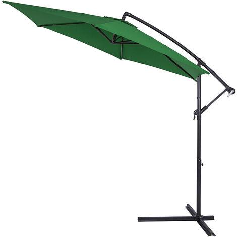 Sonnenschirm Marktschirm Kurbelschirm Schirm 300cm terracotta UV Schutz 50+