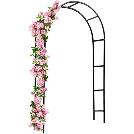 Deuba Arco para rosas columna de rosa arco de jardín enrejado puerta enrejada