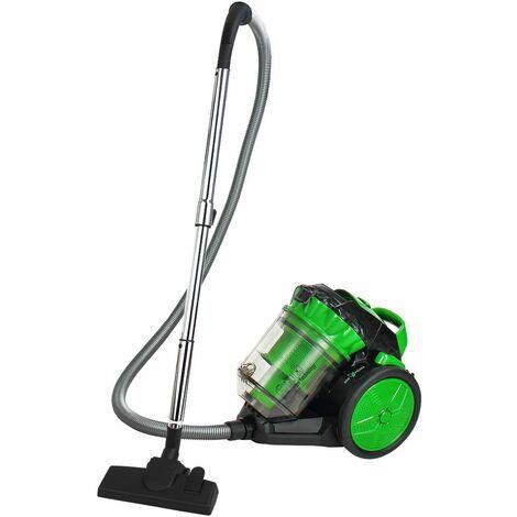 Deuba Aspiradora sin bolsa sistema ciclónico Eco Power color Verde 900W 4L con filtro HEPA cepillo 2en1 para muebles