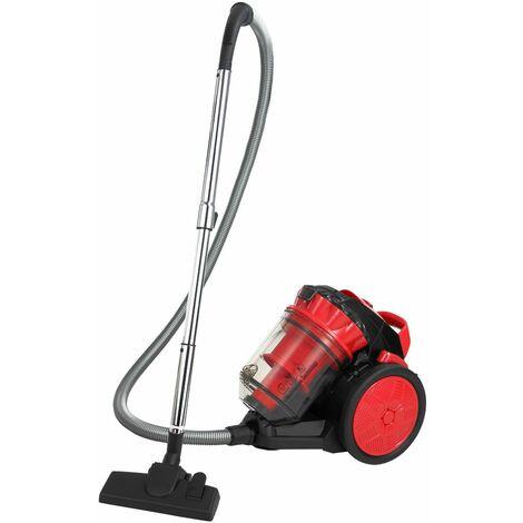 Deuba | Aspirateur sans sac • multicyclone • rouge • 900 W | Eco power, silencieux, électroménager