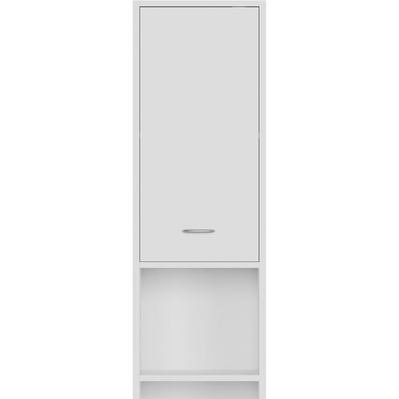 DEUBA Badezimmerhochschrank Hochschrank Badschrank   Farbe: weiß   6  Ablagefächer   2 Türen mit Magnetverschluss   185 x 30 x 30 cm