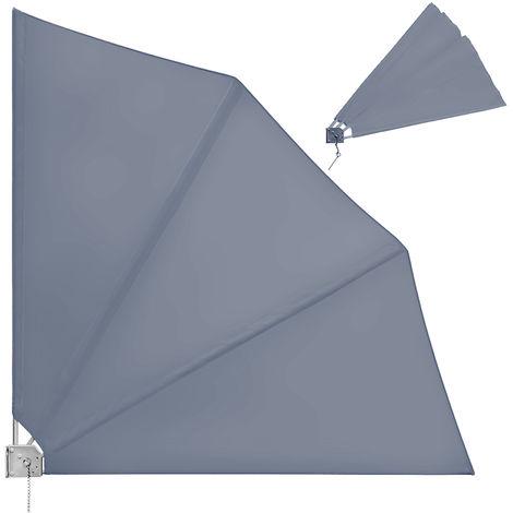 vidaXL Balkonfächer 300x200cm Terrakotta Balkonsichtschutz Seitenmarkise
