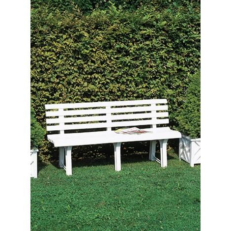 """Deuba Banco de jardín """"Orchidea"""" de PVC color Verde para 3 personas resistente a la intemperie exterior terraza"""