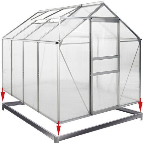 DEUBA Base Greenhouse Garden Shed 190x190cm 6x6ft