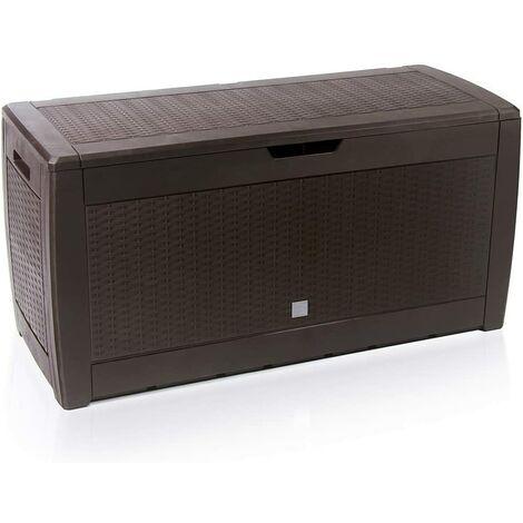Deuba Baúl de almacenaje cofre con capacidad de 310L arcón banco interior exterior - modelo a elegir