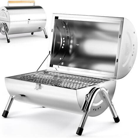 Deuba BBQ Grill Portable Folding Stainless Steel Griddle Barbecue Camping Garden Outdoor