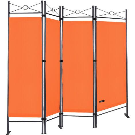 """Deuba Biombo """"LUCCA"""" separador de espacios ajustable pared divisoria con arco de metal lacado 4 partes - elegir color"""