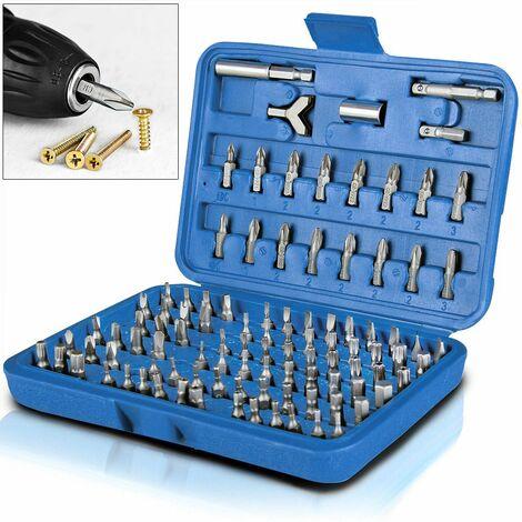 Deuba® Bit Set ✔Chrom-Vanadium-Stahl ✔100tlg ✔inkl. Koffer -Bit Satz Bitset Bitsatz Spezialbits Bitbox Schrauberbit-Set