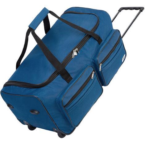 Deuba Bolsa de viaje Maleta de 85 Litros con bolsillos y candado bolsa de deporte de cabina con mango teléscopico