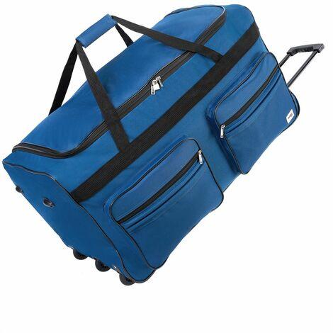 Deuba Bolsa de viaje XXL Maleta de 160 Litros con bolsillos y candado bolsa de deporte de cabina con mango teléscopico