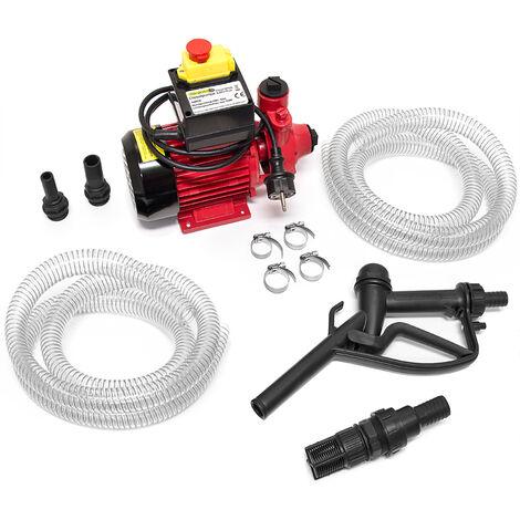 Deuba Bomba de transferencia de diesel extractora de aceite 40L/Min 370W incl. boquilla de combustible para coche moto