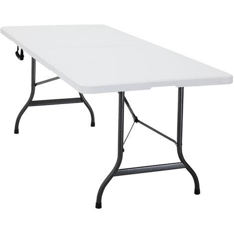 Campingtisch Gartentisch.Deuba Buffettisch Klapptisch Mehrzwecktisch 240x70 Cm Tisch