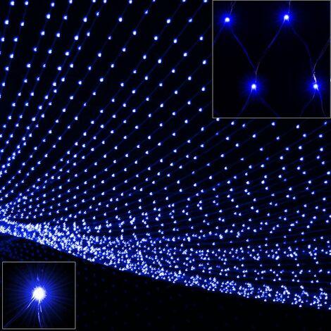 Deuba Cadena luminosa cortina y red de luces LED 200/400/600 guirnalda iluminación de Navidad fiestas interior exterior