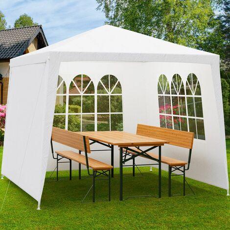 """Deuba Carpa """"New York"""" de 3x3m paredes laterales protección UV50+ pabellón cenador de jardín patio terraza exterior"""