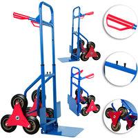 Deuba Carrello per scale 6 ruote fino a 200kg pieghevole carrello portapacchi portacasse manico di sicurezza montascale