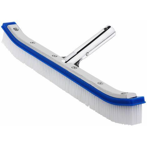 Deuba Cepillo de limpieza para piscina Aluminio algas suelos paredes cepillo de PVC herramienta accesorio inoxidable
