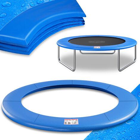 Deuba Cojín de protección Azul de PVC para cama elástica trampolín de 183/244/305/366/427 cm a elegir exterior