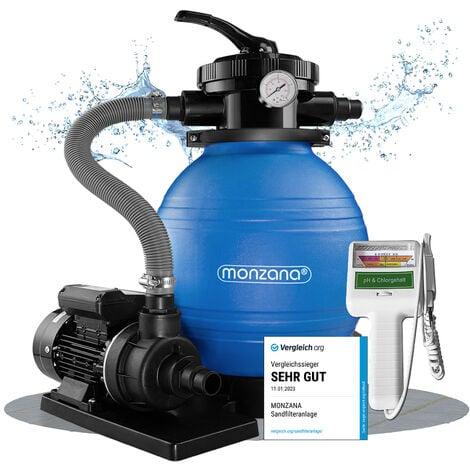 """main image of """"Deuba Depuradora 10.200 l/h bomba de filtro de arena con válvula con 4 funciones + medidor de calidad de agua para piscina"""""""