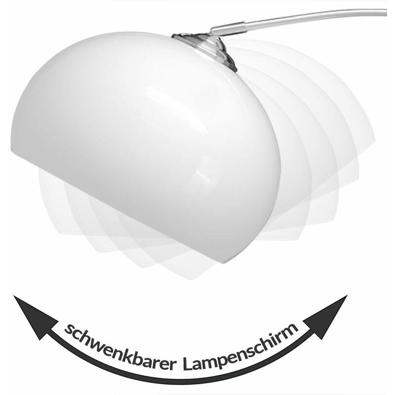 Deuba Design Bogenlampe höhenverstellbar 146 220cm
