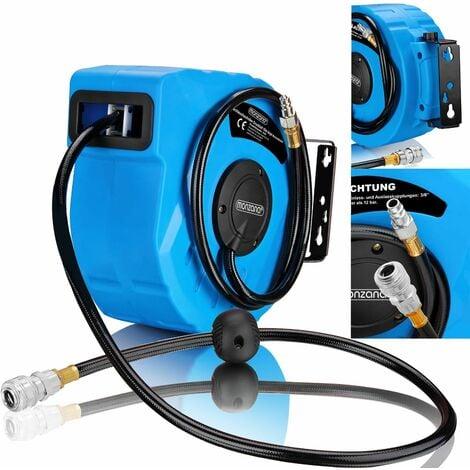 Deuba Druckluftschlauch Aufroller automatisch | 10m | 1/4 Anschluss - Schlauchtrommel Abroller Schlauchaufroller