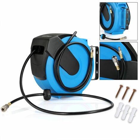 Deuba Druckluftschlauch Aufroller automatisch | 20m | 1/4 Anschluss - Schlauchtrommel Abroller Schlauchaufroller