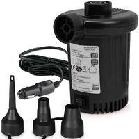 Deuba Elektrische Luftpumpe Elektropumpe inkl. 3 Aufsätze mit Kfz-Ladekabel Zum auf- und Abpumpen