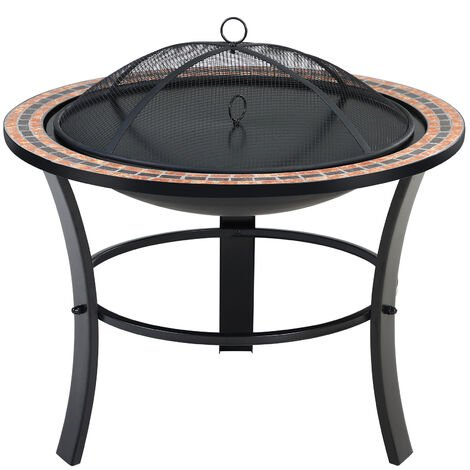 Deuba Fire Pit Mosaic Outdoor Garden Patio 76 cm
