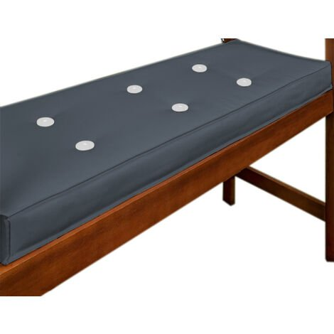 Deuba Garden Bench Cushion 2 Seater Pad Cover Detex Water Repellent Ties 100% Polyester 110 x 45 cm