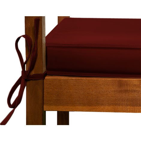 Cushion for 3 Seater Bench 145 x 45 cm Red - 101641