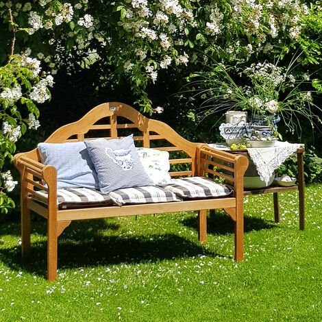 Deuba Garden Bench Wooden 2 Seater Marlboro FSC®-Certified Eucalyptus Wood