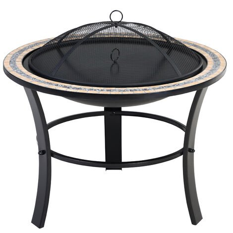 Deuba Garden Mosaic Fire Pit Outdoor Patio Heater Brazier
