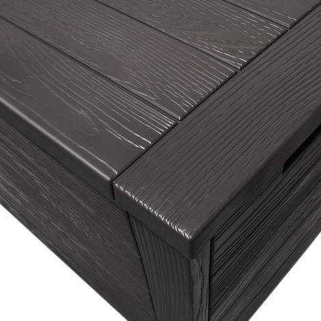 Deuba Garden Storage Box Plastic Patio Tool Storage 119 x 46 x 57 cm