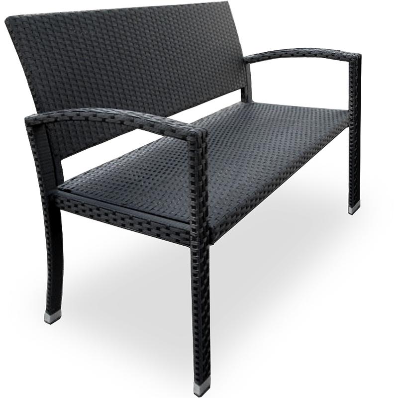 Gut gemocht Deuba® Gartenbank Poly Rattan | 2-Sitzer | UV-Lichtbeständig QI39
