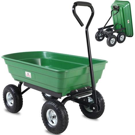 Tragkraft 200kg Gartenwagen mit Kippfunktion Handwagen Bollerwagen Volumen 55l