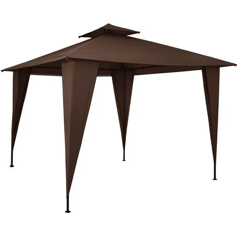 Deuba Gazebo Marquee Sairee 12x12 ft Ground Anchors Metal Frame Gazebos Powder Coated Waterproof UV-Resistant 50+