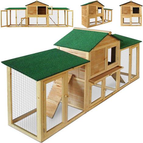 Deuba Hasenstall mit 2 Etagen variabel aufstellbar Kaninchenstall Kleintierstall Hasenkäfig