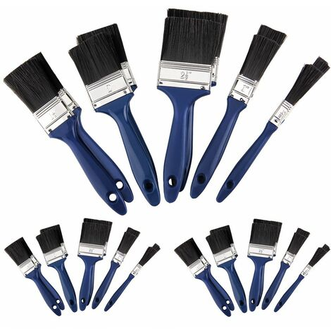 """main image of """"Deuba Juego de 30 brochas Azules y negro 5 tamaños diferentes desde 12 mm hasta 63,5 mm para pinturas obras bricolaje"""""""