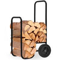 Deuba® Kaminholzwagen | extra groß 105x56x45 cm - Brennholzkarre Holzwagen Holzkorb Sackkarre Transportwagen